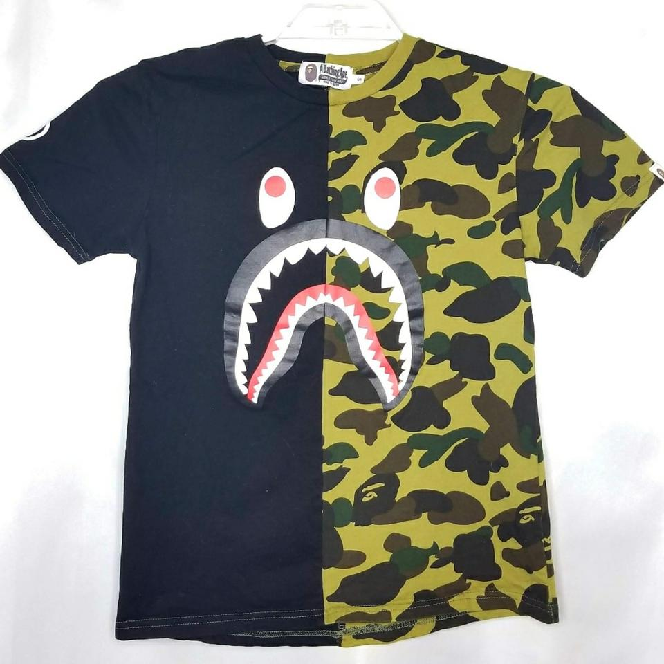 4eb557985 Bape Black Green A Bathing Ape Monster Cami Como Tee Shirt Size 6 (S ...