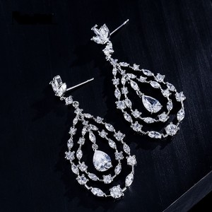 Silver Plated Brilliant Cz Drop Earrings