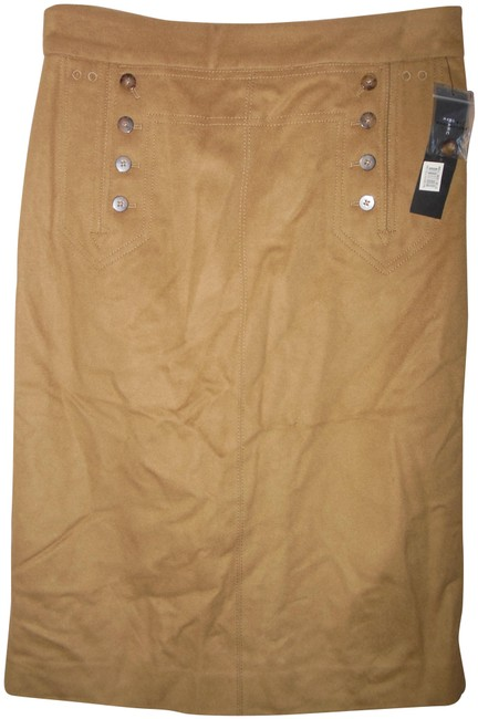 Item - Camel Wool Cashmere Blend Corset Back Skirt Size 10 (M, 31)