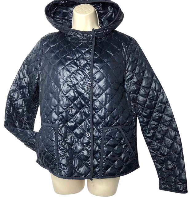 Item - Navy Double Breasted Quilted Puffer Jacket Size 8 (M)