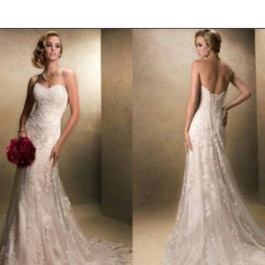Maggie Sottero Light Gold Emma Traditional Wedding Dress Size 16 (XL, Plus 0x)
