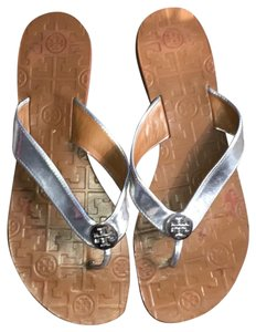 Tory Burch Silver straps w/Camel soles Sandals