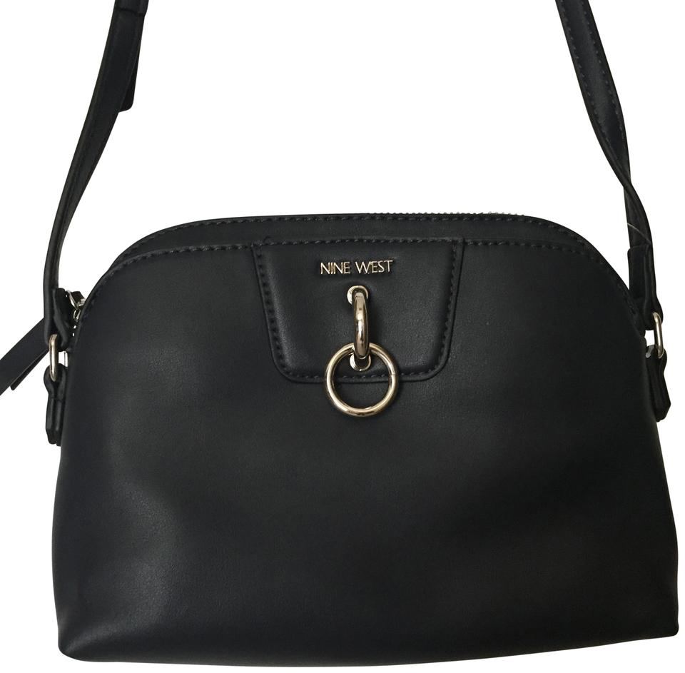 c850b1d486 Nine West Small Purse Navy Blue Faux Leather Cross Body Bag - Tradesy