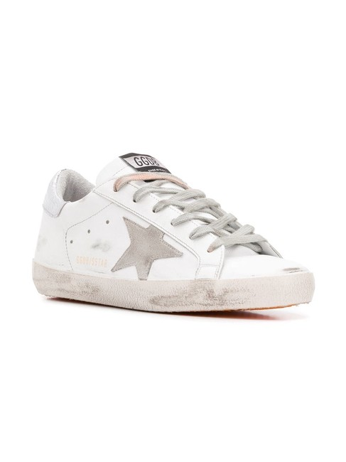 Item - White/Orange Super Star Sneakers Size EU 38 (Approx. US 8) Regular (M, B)