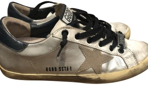 Golden Goose Deluxe Brand Silver, White and Black Athletic