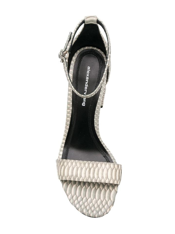dce8e5a7d Alexander Wang Grey/White Abby Shaded Snake Sandals Size EU 40 ...