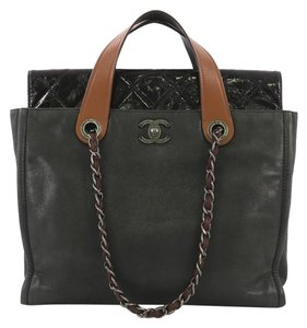 25cecbb7ac50 Chanel In The Mix Portobello Soft Quilted Iridescent Charcoal Black ...