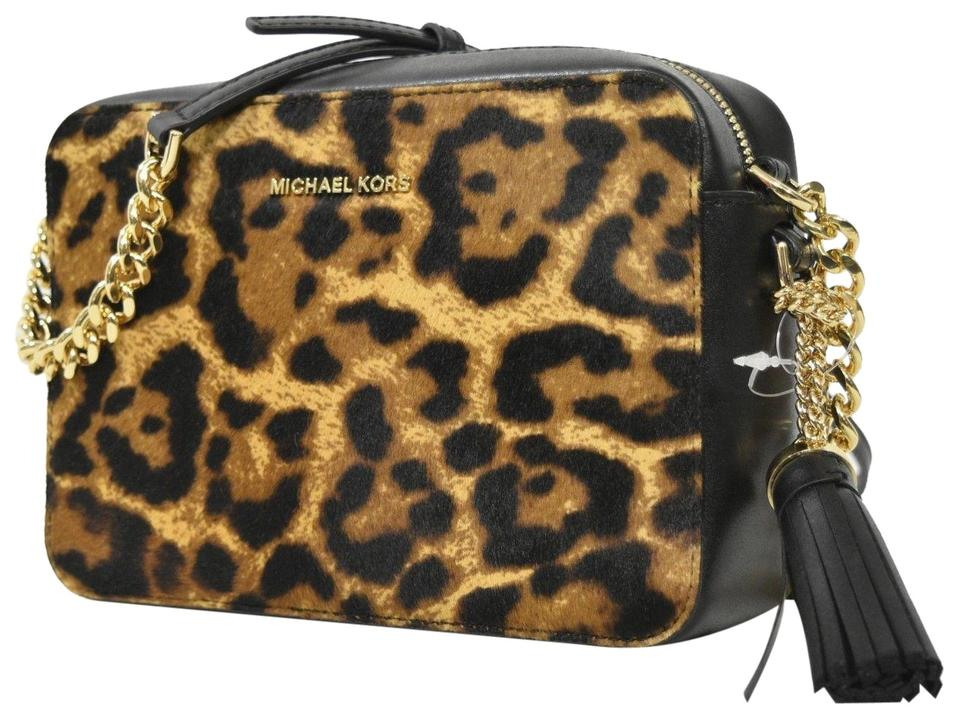 48d006aff4ba Michael Kors Camera Medium Ginny Leopard Print Leather/Genuine Calf ...