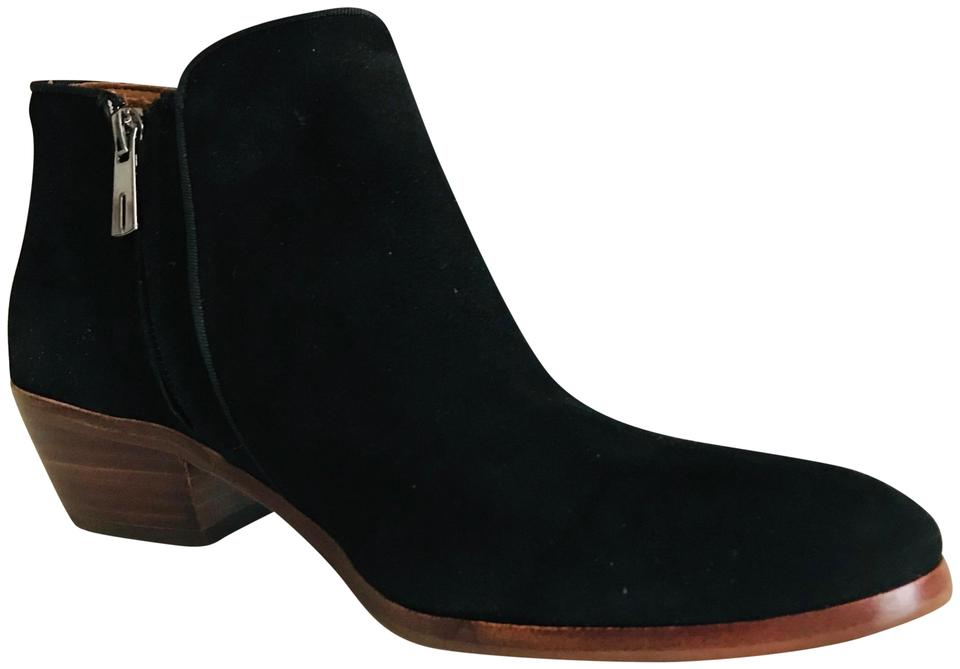 9873a4ea9 Sam Edelman Black Suede Petty Ankle Boots Booties Size US 8 Regular ...
