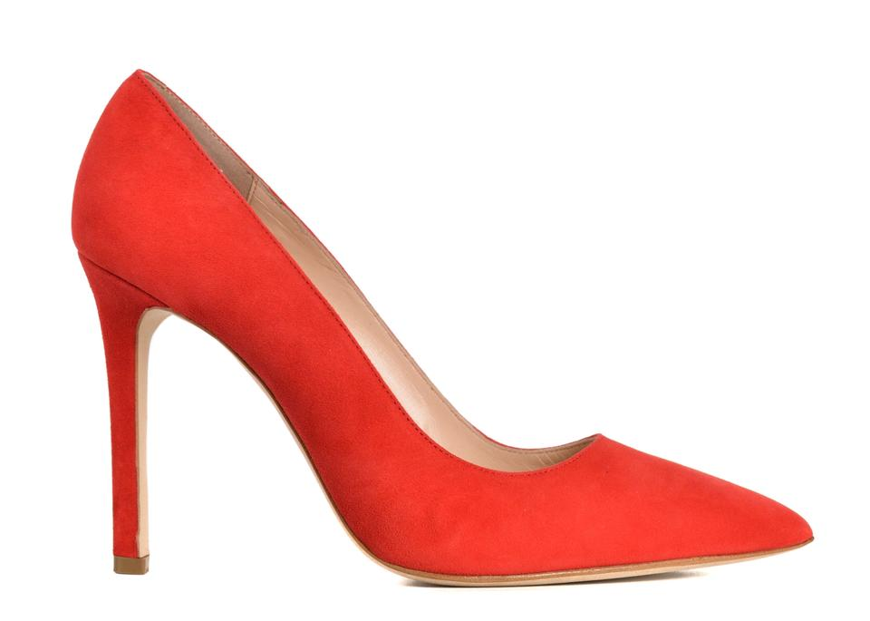 0234f64f57a Manolo Blahnik Red Womens Bb Suede Pointed C3553 Pumps Size US 10.5 Regular  (M, B) 42% off retail