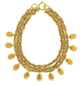 Chanel CHANEL VINTAGE AUTHENTIC GOLD CHAIN CHARM NECKLACE RARE