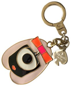 Kate Spade Pink Gold Girl Darcel Monster Keychain 70% off retail