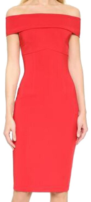 Item - Red Off The Shoulder Short Night Out Dress Size 2 (XS)