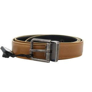 Dolce&Gabbana Yellow D50024-6 Gold Leather Gray Vintage Belt (95 Cm / 38 Inches) Groomsman Gift