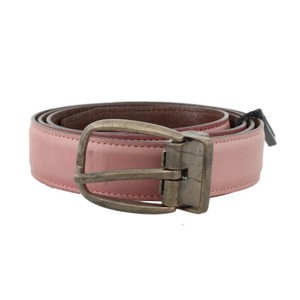 Dolce&Gabbana Pink D50023-1 Shiny Leather Gold Vintage Belt (100 Cm / 40 Inches) Groomsman Gift