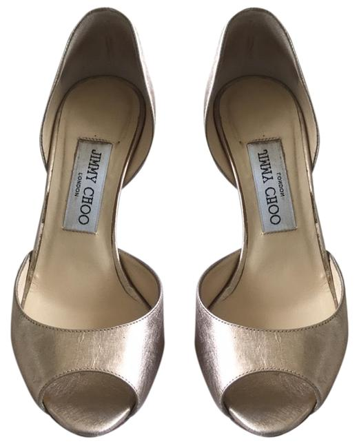Item - Gold (Champagne / Rose Gold) Fancy Leather Peep-toe Heels Formal Shoes Size EU 36 (Approx. US 6) Regular (M, B)
