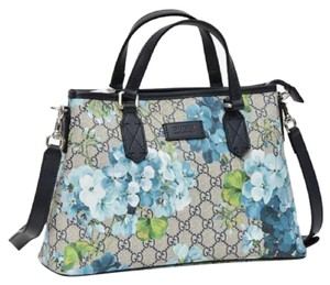1b418e140b8 Gucci Beige Blue Gg Coated Canvas Reversible 372613 8499 Tote in Beige Blue