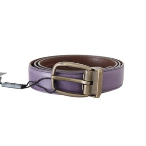 Dolce&Gabbana Purple D50019-6 Shiny Leather Gold Buckle Belt (95 Cm / 38 Inches) Groomsman Gift