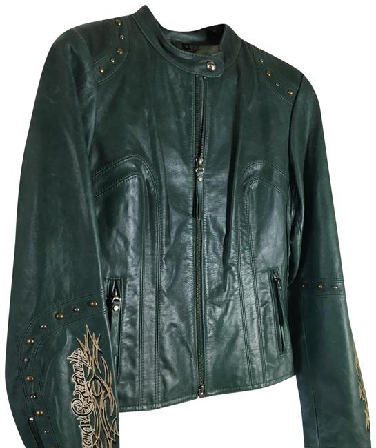 Item - Green with Gold & Black Designs 103819 Jacket Size 8 (M)
