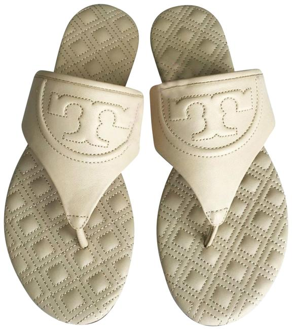 Tory Burch Dulce De Leche New Quilted Leather Sandals Flats Size US 6.5 Regular (M, B) Tory Burch Dulce De Leche New Quilted Leather Sandals Flats Size US 6.5 Regular (M, B) Image 1