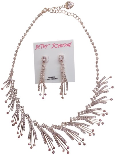 Preload https://img-static.tradesy.com/item/25059403/betsey-johnson-pink-new-cubic-zirconia-necklace-and-earrings-0-1-540-540.jpg