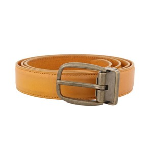 Dolce&Gabbana Yellow D50020-3 Leather Gold Buckle Belt (85 Cm / 34 Inches) Groomsman Gift