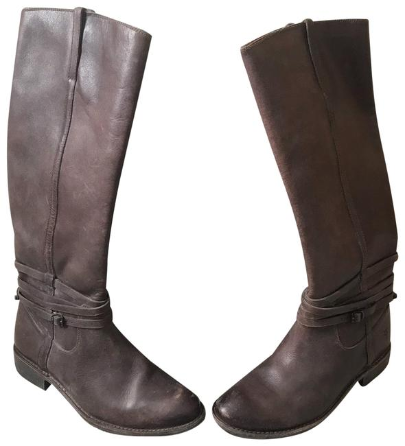 Frye Distressed Brown Shirley Plated Riding Boots/Booties Size US 9 Regular (M, B) Frye Distressed Brown Shirley Plated Riding Boots/Booties Size US 9 Regular (M, B) Image 1