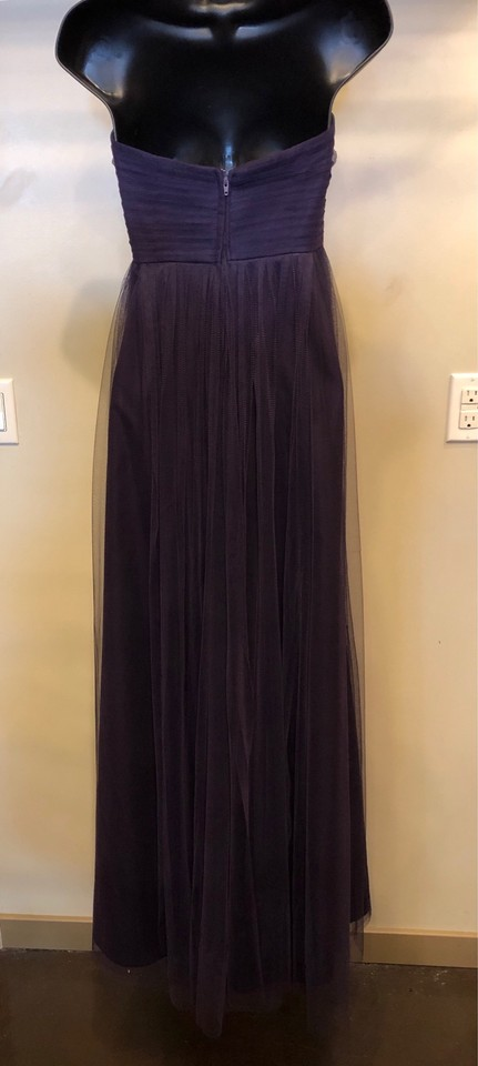 Jenny Yoo Eggplant Collection Strapless Gown Long Formal Dress Size 8 M