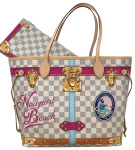 Louis Vuitton Newport Beach Trunks Summer Trunks Limited Edition Neverfull Tote in Damier Azur