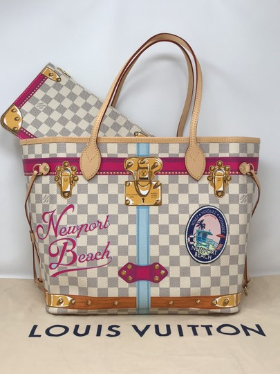 Louis Vuitton Newport Beach Trunks Summer Trunks Limited Edition Neverfull Tote in Damier Azur Image 1