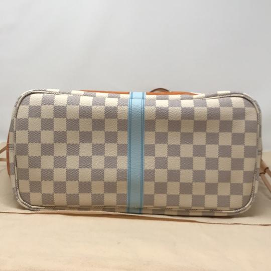 Louis Vuitton Newport Beach Trunks Summer Trunks Limited Edition Neverfull Tote in Damier Azur Image 3