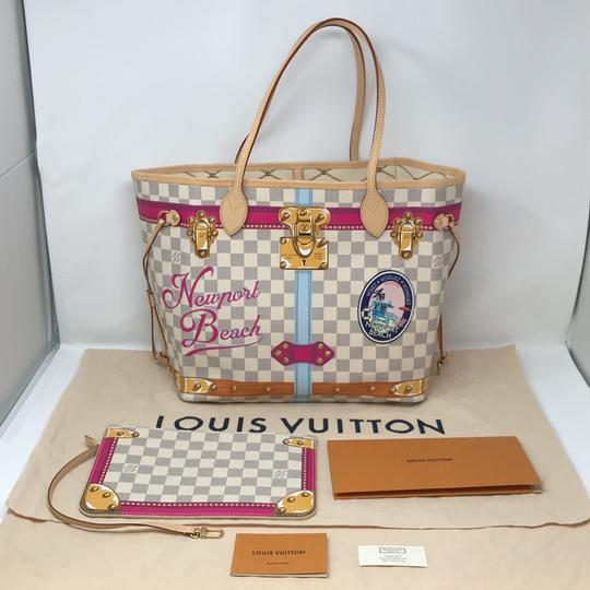 Louis Vuitton Newport Beach Trunks Summer Trunks Limited Edition Neverfull Tote in Damier Azur Image 4