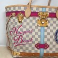 Louis Vuitton Newport Beach Trunks Summer Trunks Limited Edition Neverfull Tote in Damier Azur Image 5