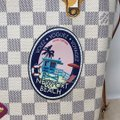 Louis Vuitton Newport Beach Trunks Summer Trunks Limited Edition Neverfull Tote in Damier Azur Image 6