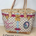 Louis Vuitton Newport Beach Trunks Summer Trunks Limited Edition Neverfull Tote in Damier Azur Image 7