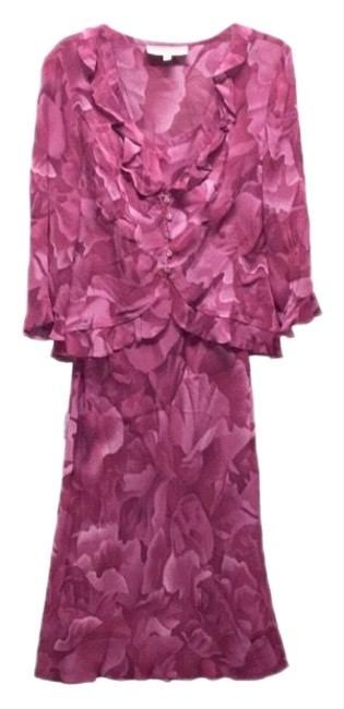 Preload https://img-static.tradesy.com/item/25060034/donna-ricco-purplepink-2-pieces-outfit-mid-length-workoffice-dress-size-10-m-0-1-650-650.jpg