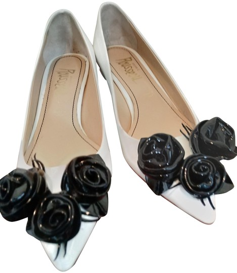 Preload https://img-static.tradesy.com/item/25060076/jerome-c-rousseau-white-black-patent-leather-with-flowers-pumps-size-eu-37-approx-us-7-regular-m-b-0-1-540-540.jpg