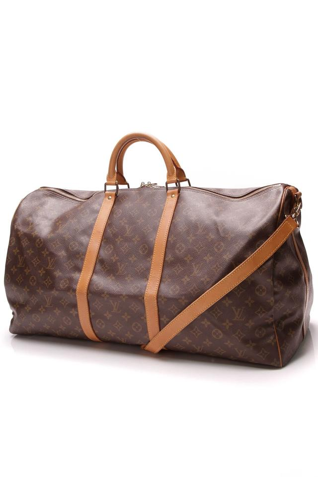 1c39fde8 Louis Vuitton Keepall Vintage Bandouliere 60 - Monogram Brown Coated Canvas  Weekend/Travel Bag 40% off retail