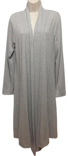 Grey Open Duster Cardigan Size 12 (L) Grey Open Duster Cardigan Size 12 (L) Image 1