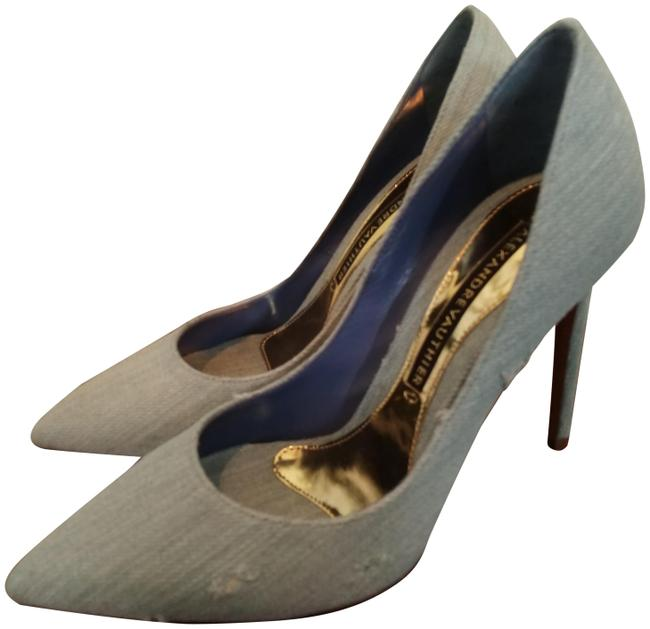 Alexandre Vauthier Light Blue Denim Distressed Slim Pumps Size EU 36.5 (Approx. US 6.5) Regular (M, B) Alexandre Vauthier Light Blue Denim Distressed Slim Pumps Size EU 36.5 (Approx. US 6.5) Regular (M, B) Image 1