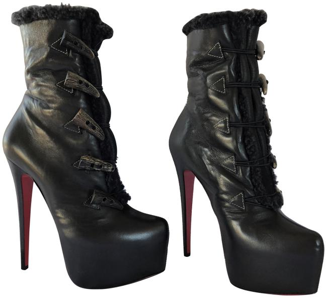 Christian Louboutin Black New Oulanbator Leather Platform Daf High Heel Lady Red Sole Toe Ankle Boots/Booties Size EU 39 (Approx. US 9) Regular (M, B) Christian Louboutin Black New Oulanbator Leather Platform Daf High Heel Lady Red Sole Toe Ankle Boots/Booties Size EU 39 (Approx. US 9) Regular (M, B) Image 1