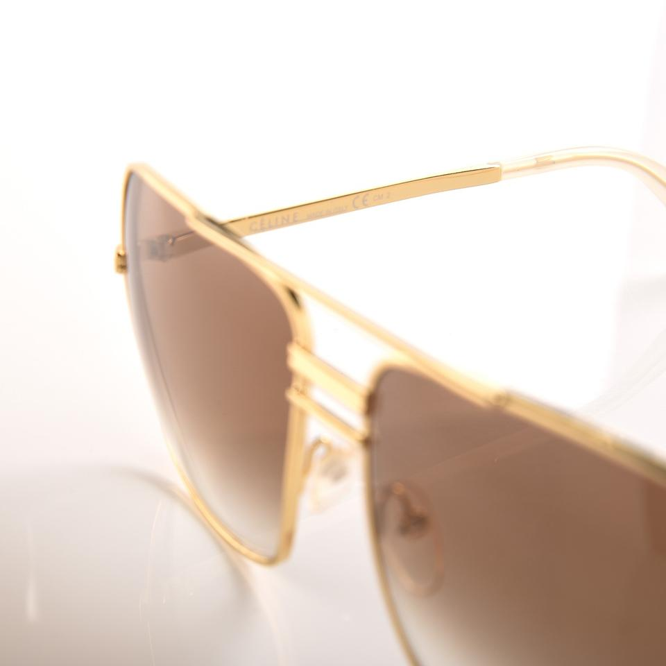 c78a7b2d5a78 Céline Gold New Cl41808s 41808 Brown Gradient Square Aviator ...
