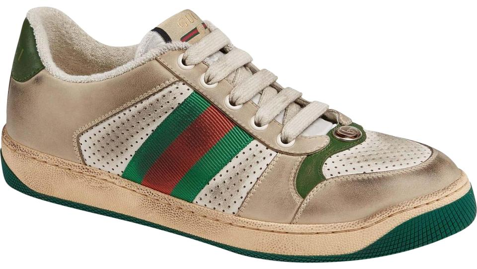 0231a307ba7 Gucci Screener Low Top Leather Sneakers Size EU 37 (Approx. US 7 ...