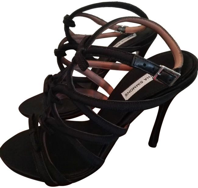Tabitha Simmons Black Bowrama Slim Heel Ankle Strap Sandals Size EU 36.5 (Approx. US 6.5) Regular (M, B) Tabitha Simmons Black Bowrama Slim Heel Ankle Strap Sandals Size EU 36.5 (Approx. US 6.5) Regular (M, B) Image 1