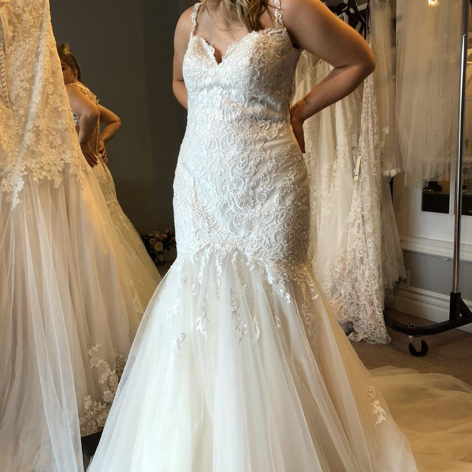 Stella York Ivory/Almond/Ivory Lace/Tulle 6314 Fit & Flare
