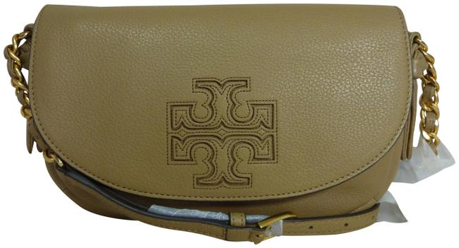 Tory Burch Harper Tan Leather Cross Body Bag Tory Burch Harper Tan Leather Cross Body Bag Image 1