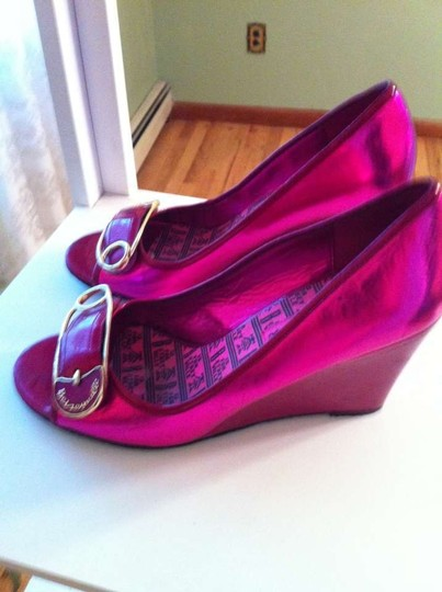 Betsey Johnson Hot pink Wedges