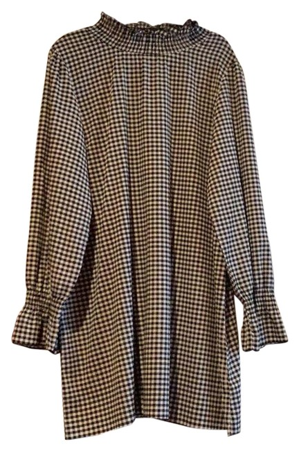 Item - Black and White Checkered Mid-length Night Out Dress Size 26 (Plus 3x)
