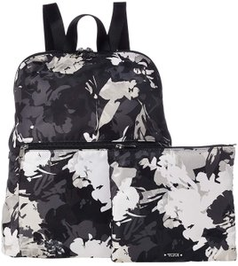 Tumi Foldable Two Pieces Set Magenta Floral Foldable Backpack