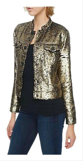 Item - Gold Sequin Dusty Jacket Size 0 (XS)